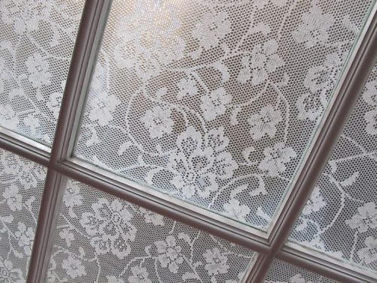 Как приклеить ткань к стеклу