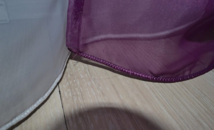 Как обработать края шторы сбоку
